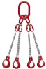 4-Strang Anschlagkette Kettenstärke 6 mm