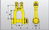 Gabelkopfschäkel Typ GSA