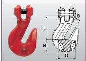 Verkürzungshaken Typ GP mit Gabelkopf